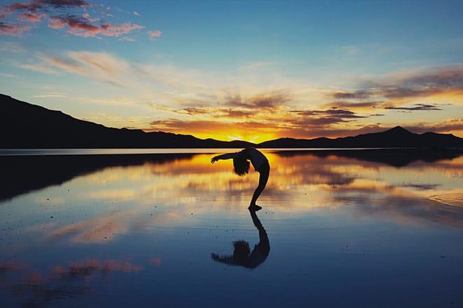 back stretch at sunrise