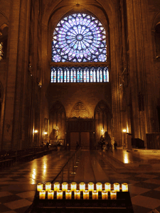 Cathedral with candles 2